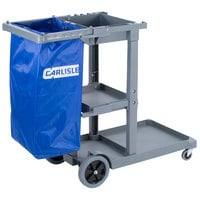 Carlisle JC1945S23 Gray Janitor Cart