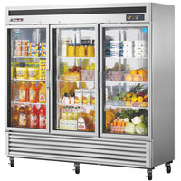 Turbo Air MSR-72G-3 Super Deluxe 82 inch Glass Door Reach In Refrigerator