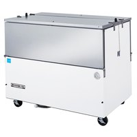 Beverage-Air ST58N-W-02 58 inch White 2-Sided Cold Wall Milk Cooler with Stainless Steel Interior