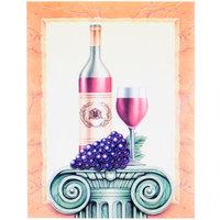 8 1/2 inch x 11 inch Menu Paper - Wine Themed Column Design Cover - 100/Pack