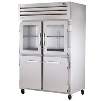True STA2R-2HG/2HS Specification Series 52 inch Two Glass and Two Solid Half Door Reach In Refrigerator