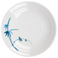 Thunder Group 1365BB Blue Bamboo 6 1/2 inch Round Melamine Soup Plate - 12/Pack
