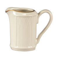 Homer Laughlin 1420-0039 Westminster Gothic Off White 3.25 oz. Creamer - 36/Case