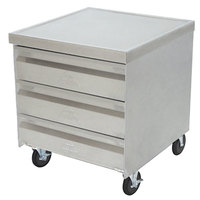 Advance Tabco MDC-2020 Mobile Drawer Cabinet - 3 Drawers