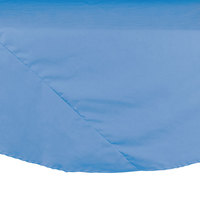 132 inch Light Blue Round Hemmed Polyspun Cloth Table Cover