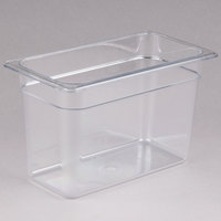 Cambro 38CW135 Camwear 1/3 Size Clear Polycarbonate Food Pan - 8 inch Deep