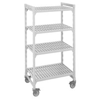 Cambro Camshelving Premium CPMS243675V4480 Mobile Shelving Unit with Standard Casters 24 inch x 36 inch x 75 inch - 4 Shelf