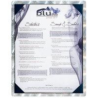 5 inch x 7 inch Menu Solutions ALSIN57-PIX Single Panel Swirl Aluminum Menu Board with Picture Corners