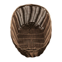 Tablecraft 1476 10 inch x 6 1/2 inch x 3 inch Brown Oval Rattan Basket - 12/Pack