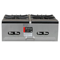 Town SR-24-G-2X-P Natural Gas Double Stock Pot Stove - 274,000 BTU
