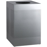 Rubbermaid FGSC22SSPL Silhouettes Stainless Steel Designer Waste Receptacle - 50 Gallon