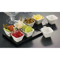 American Metalcraft WCT8 Wood Serving Board for 8 Sauce Cups