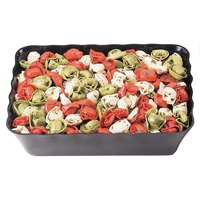 Cambro SFR1012110 Black ShowFest Rectangular Serving Bowl with Scalloped Edges 4.5 Qt. - 6/Case