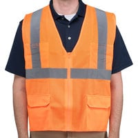 Orange Class 2 High Visibility Surveyor's Safety Vest - Medium
