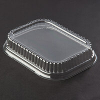 Genpak 95516 Clear Overcap Lid for Dual Ovenable Food Pans - 500 / Case