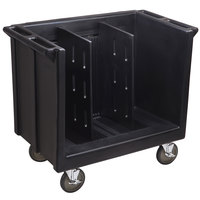 Cambro TDC30110 Black Adjustable Tray and Dish Cart with Vinyl Cover