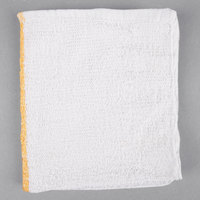 Choice 16 inch x 19 inch Gold Striped 32 oz. 100% Cotton Bar Towel - 12/Pack