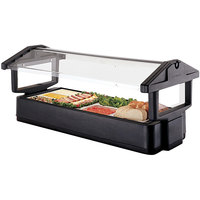 Cambro 6FBRTT110 Black Table Top 6' Food / Salad Bar with Sneeze Guard