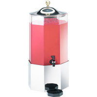 Cal-Mil 152-SS 3 Gallon Octagon Stainless Steel Dispenser - 11 inch x 11 inch x 23 1/2 inch