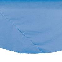 83 inch Light Blue Round Hemmed Polyspun Cloth Table Cover