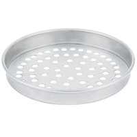 American Metalcraft SPT4007 7 inch x 1 inch Super Perforated Tin-Plated Steel Straight Sided Pizza Pan