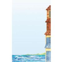 8 1/2 inch x 11 inch Menu Paper - Mediterranean Themed Venice Design Right Insert - 100/Pack