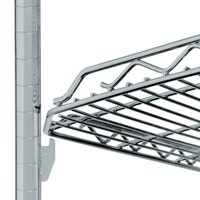 Metro HDM1848Q-DSH qwikSLOT Drop Mat Silver Hammertone Wire Shelf - 18 inch x 48 inch