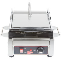 Cecilware SG1SG Single Panini Sandwich Grill with Grooved Grill Surfaces - 120V