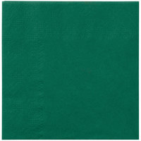 Hoffmaster 180337 Hunter Green Beverage / Cocktail Napkin   - 250/Pack