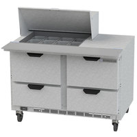 Beverage Air SPED48HC-12M-4 48 inch 4 Drawer Mega Top Refrigerated Sandwich Prep Table