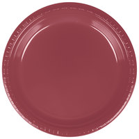 Creative Converting 28312221 9 inch Burgundy Plastic Plate - 20/Pack