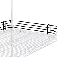 Metro L24N-4-DBM Super Erecta Black Matte Stackable Ledge 24 inch x 4 inch