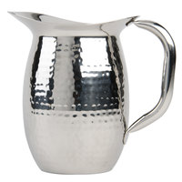 American Metalcraft HMWP44 Hammered Finish Double Wall Bell Pitcher - 1.37 qt.