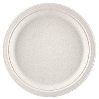 Green Wave Ovation Sugarcane / Bagasse OV-P010 10 inch Biodegradable and Compostable Premium Plate   - 500/Case