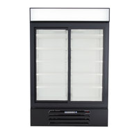 Beverage-Air LV45HC-1-B LumaVue 52 inch Black Refrigerated Glass Door Merchandiser with LED Lighting