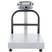 Tor Rey EQB-50/100 100 lb. Digital Receiving Bench Scale with Tower Display, Legal for Trade