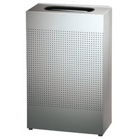 Rubbermaid FGSR14SSPL Silhouettes Stainless Steel Designer Rectangular Waste Receptacle - 25 Gallon