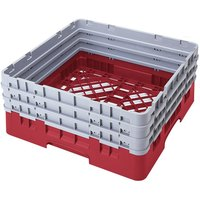 Cambro BR712163 Red Camrack Full Size Open Base Rack with 3 Extenders