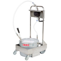 MirOil 55HD 50 lb. Fryer Oil Hand Operated 1-Way Filter Machine and Discard Trolley