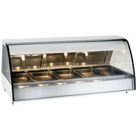 Alto-Shaam TY2-72 SS Stainless Steel Countertop Heated Display Case with Curved Glass - Full Service 72 inch
