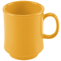 GET TM-1308-TY Mardi Gras 8 oz. Tropical Yellow Tritan Stacking Mug - 24/Case
