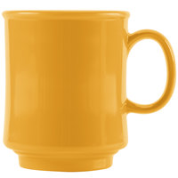 GET TM-1308-TY Diamond Mardi Gras 8 oz. Tropical Yellow Tritan Stacking Mug - 24/Case