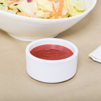 Carlisle 41202 3 oz. White Straight Sided Melamine Ramekin - 48/Case