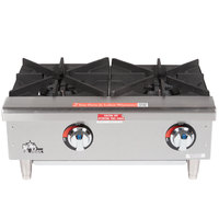 Star Max 602HWF 24 inch 2 Burner Countertop Gas Range / Hot Plate - 50,000 BTU