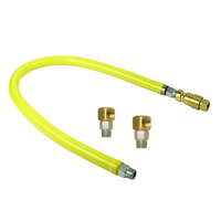 T&S HG-4F-60S 60 inch FreeSpin Quick-Disconnect Gas Appliance Connector with SwiveLink Fittings - 1 1/4 inch NPT