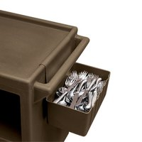 Cambro BC1115SH131 1.75 Gallon Brown Silverware Holder for Service Carts