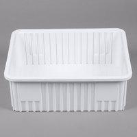 Metro MTB93080W 23 inch x 18 inch x 8 inch White Divider Tote Box
