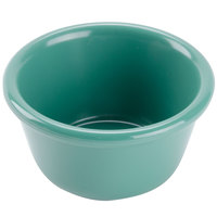 GET RM-400-FG Diamond Mardi Gras 4 oz. Rainforest Green Melamine Ramekin - 48/Case