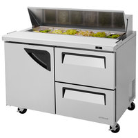 Turbo Air TST-48SD-D2 48 inch 1 Door 2 Drawer Refrigerated Sandwich Prep Table