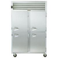 Traulsen G20002 2 Section Half Door Reach In Refrigerator - Right / Right Hinged Doors